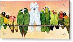 14 Birds On A Stick Acrylic Print