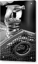 1930 Ford Quail Hood Ornament 3 Acrylic Print by Jill Reger
