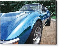 1972 Corvette Acrylic Print by Rod Seel
