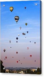 Colorful Balloons On Colorful Sky Acrylic Print by Angel  Tarantella