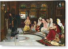 Consulting The Oracle Acrylic Print by John William Waterhouse