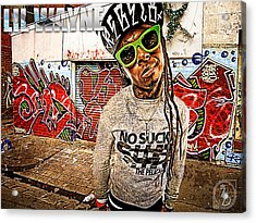 Street Phenomenon Lil Wayne Acrylic Print by The DigArtisT