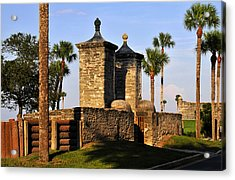 The Old City Gates Acrylic Print by David Lee Thompson