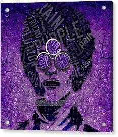 Prince Purple Rain Acrylic Print