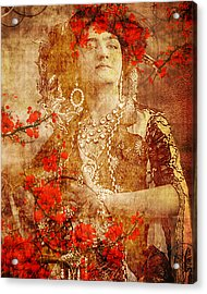 Winsome Woman Acrylic Print by Chris Andruskiewicz
