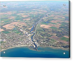 Acrylic Print featuring the photograph A-006 Algoma Wisconsin by Bill Lang