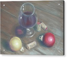 A Wine Christmas Acrylic Print by Ellen Minter