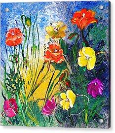 Abendwiese       Evening Garden Acrylic Print by Birgit Schlegel