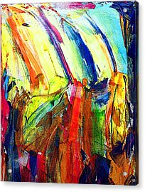 Abstract Colored Rain Acrylic Print