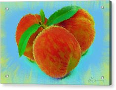 Abstract Fruit Painting Acrylic Print by Michael Greenaway