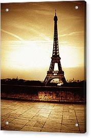 Ancient Paris Tour Eiffel Acrylic Print by Noovae