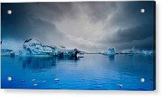 Antarctic Iceberg Acrylic Print by Michael Leggero