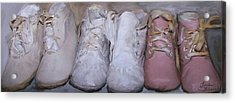 Antique Baby Shoes Acrylic Print by Linda Scharck