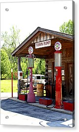 Antique Car And Filling Station 2 Acrylic Print by Douglas Barnett