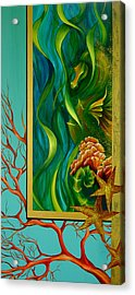 Acrylic Print featuring the painting Aquatica by Dina Dargo