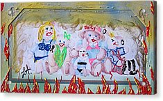 Acrylic Print featuring the painting Bad Bears by Lisa Piper