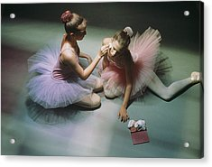 Ballerinas Get Ready For A Performance Acrylic Print
