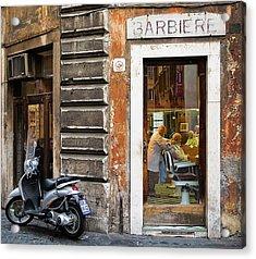 Barbiere Acrylic Print by Stefan Nielsen