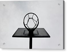 Basketball Hoop Acrylic Print by Christoph Hetzmannseder