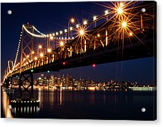 Bay Bridge In Front Of San Francisco Skyline Acrylic Print