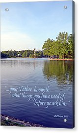 Before You Ask Acrylic Print
