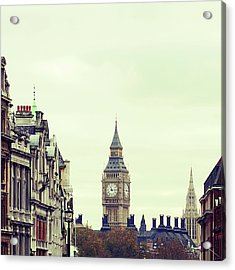 Big Ben As Seen From Trafalgar Square, London Acrylic Print by Image - Natasha Maiolo