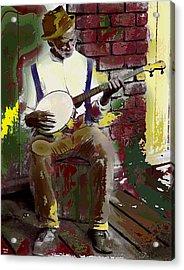 Black Banjo Man Acrylic Print