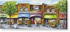 Acrylic Print featuring the painting Bloorwest Village  by Margit Sampogna