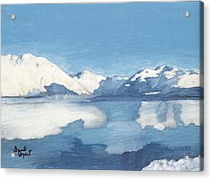 Blue Alaska Acrylic Print by David Poyant
