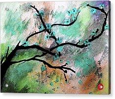 Blue Blossom Acrylic Print by Andrea Realpe
