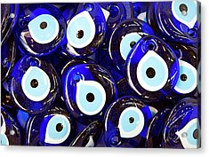 Blue Turkish Evil Eyes Acrylic Print