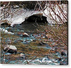 Acrylic Print featuring the photograph Blue Water Creek by Tammy Sutherland