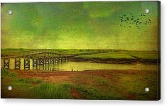 Acrylic Print featuring the photograph Boardwalk On Cape Cod by Gina Cormier