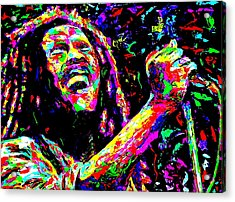 Bob Marley Acrylic Print by Mike OBrien