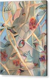 Bohemian Waxwings Acrylic Print