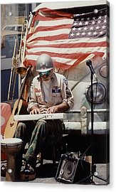 Acrylic Print featuring the photograph Born In The Usa by Mary-Lee Sanders