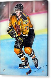 Boston Bruins Ray Bourque Acrylic Print by Dave Olsen