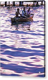 Boys On Boat Acrylic Print