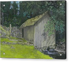 Brinegar Cabin Springhouse Acrylic Print