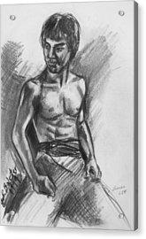 Bruce Lee Acrylic Print by Jamey Balester