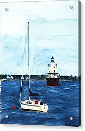 Butlers Flat New Bedford Acrylic Print by David Poyant