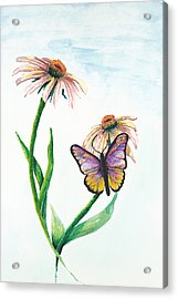 Butterfly Dance Acrylic Print by Deborah Ellingwood