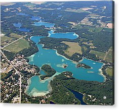 C-022 Chain-o-lakes Summer Waupaca Wisconsin Acrylic Print by Bill Lang