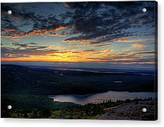 Cadillac Mountain Sunset I Hdr Acrylic Print