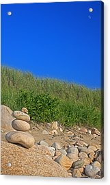 Cairn Dunes And Moon Acrylic Print