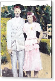 Caits Mom And Dad Acrylic Print by David Poyant