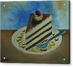 Caramel Cake Acrylic Print by Kostas Koutsoukanidis