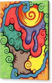 Caribbean Colors Acrylic Print