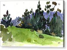 Carmel  California Acrylic Print by Marianne  Gargour