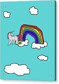 Cash Crap Unicorn Acrylic Print by Jera Sky